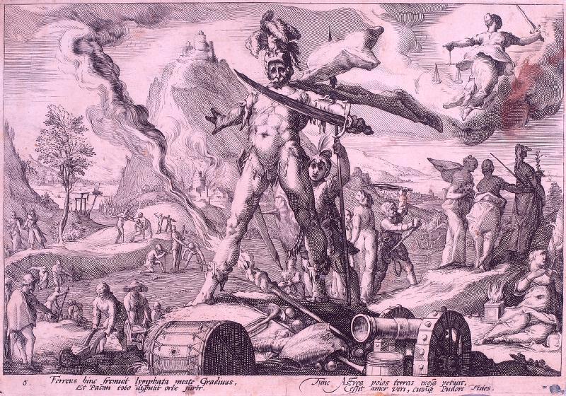 Hendrick Goltzius - následovník - Železný věk, 6. list z Ovidiových Metamorfóz