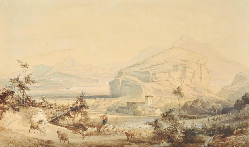 Caspar Johann Nepomuk Scheuren - Italská krajina