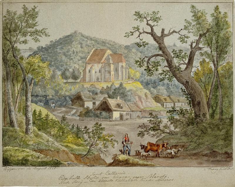 František (Franz) Richter - Svatá Kateřina-pohled na kostelík