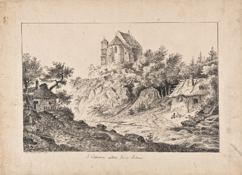 František (Franz) Richter - Svytá Kateřina-pohled na kostelík