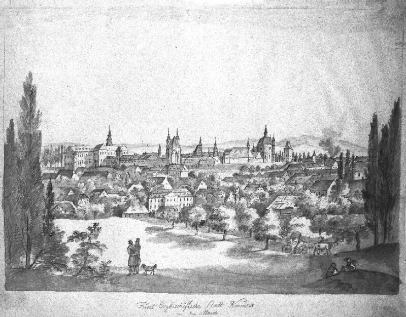František (Franz) Richter - Pohled na Kroměříž