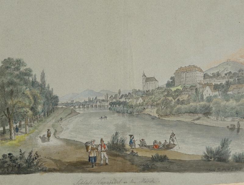František (Franz) Richter - Napajedla-celkový pohled na město