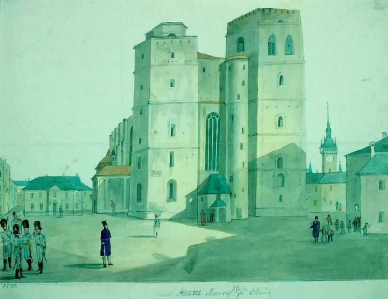 František (Franz) Richter - Průčelí kostela sv. Mořice