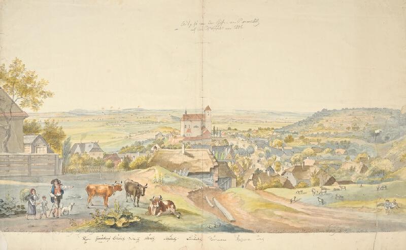 František (Franz) Richter - Bitevní pole z roku 1805 u Pozořic