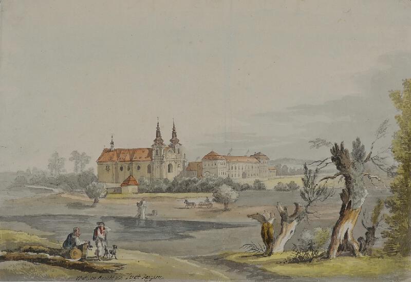 František (Franz) Richter - Pohled na Rajhrad