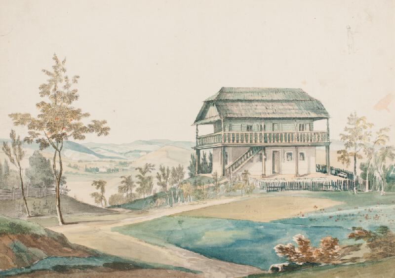 František (Franz) Richter - Tyrolský dům v zámecké zahradě v Rájci