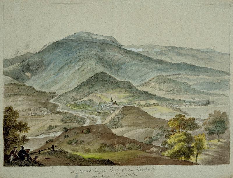 František (Franz) Richter - Pohled na Rožnov pod Radhoštěm