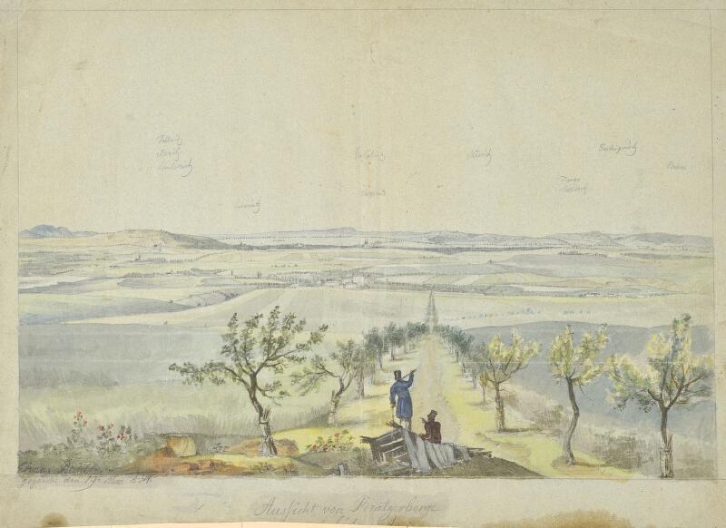 František (Franz) Richter - Výhled z Prateckého kopce