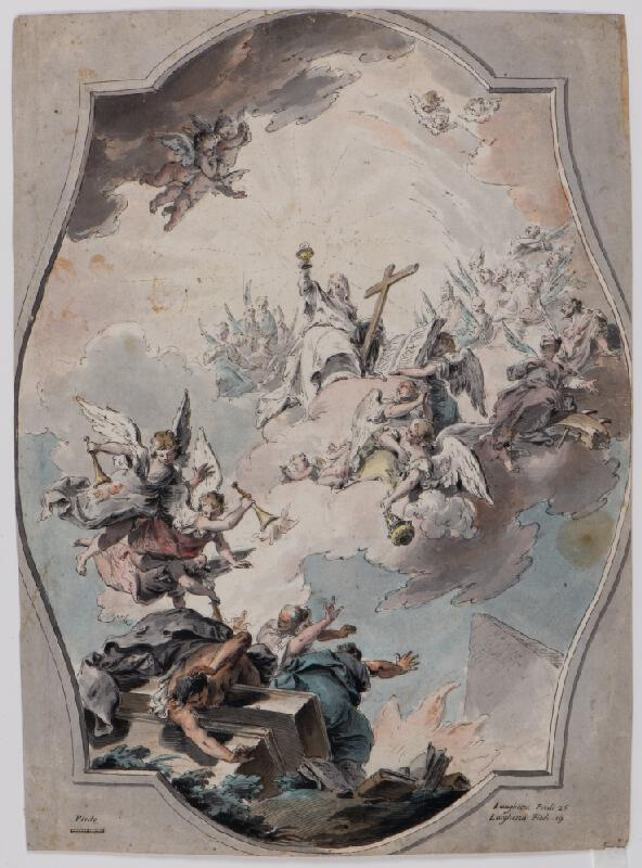 Pietro Antonio Novelli - Víra překonávající kacířství