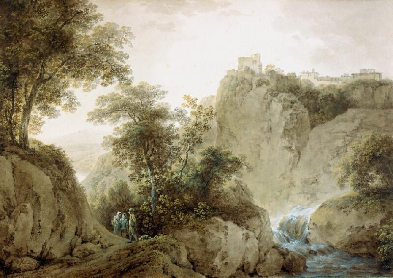 Martin von Molitor - Horská krajina se zříceninou (Krajina u Tivoli)