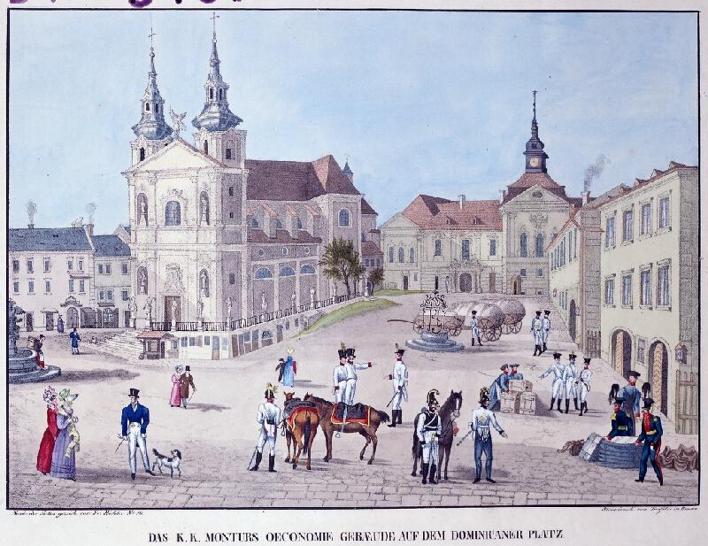 František (Franz) Richter - Das K.K. Nonturs occonomie Gebüede auf dem Dominicaner Platz