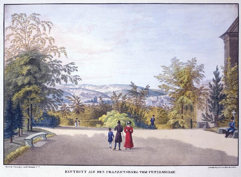 František (Franz) Richter - Eintritt auf den Franzesberg von Petersberge