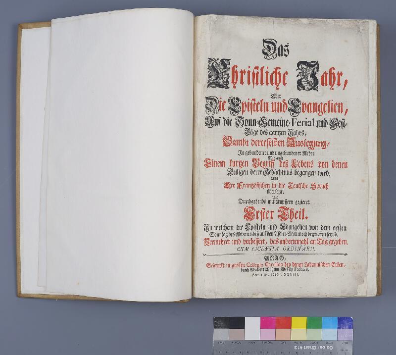 Nicolas LeTournex, Jiří Laboun, Michael Heinrich Rentz - Das Christliche Jahr. Erster Theil