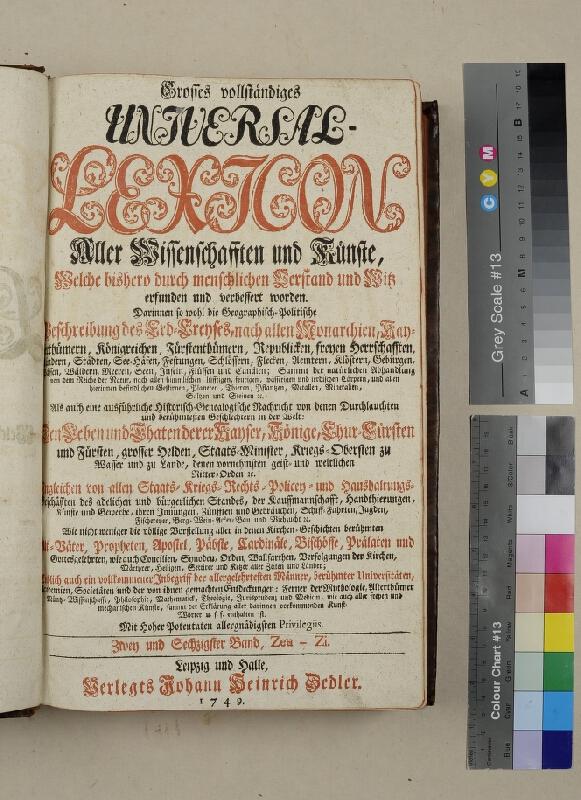 neurčený autor, Heinrich Johann Zedler - Grosses vollständiges Universal Lexikon. Zwey und Sechszigster Band