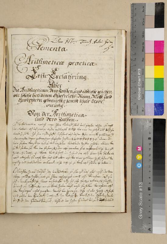 František Antonín Grimm - Elementa arithmeticae practicae