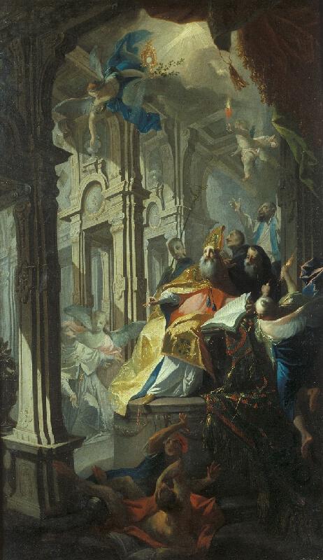Josef Winterhalder II. (Winterhalter) - Vidění sv. Augustina a Norberta