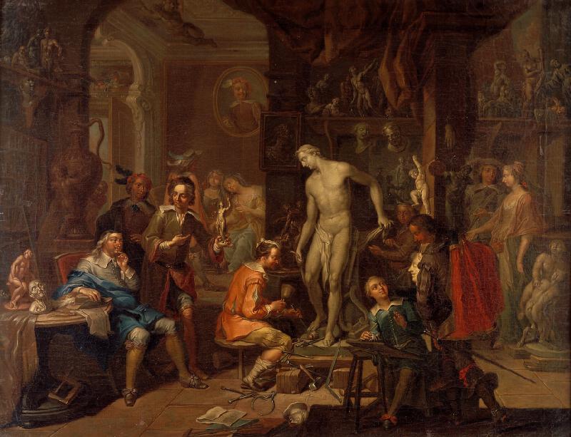Franz Christoph Janneck - V atelieru sochaře