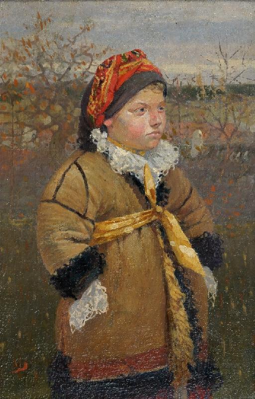 Joža Uprka - Děvčátko v kožichu (Kněždubské děvčátko v kožuchu)