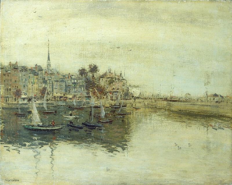 Jean François Raffaelli - Francouzský přístav s plachetnicemi