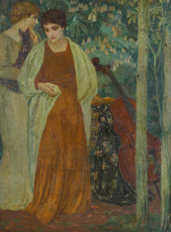 Karel Špillar - Dvě ženy v zahradě