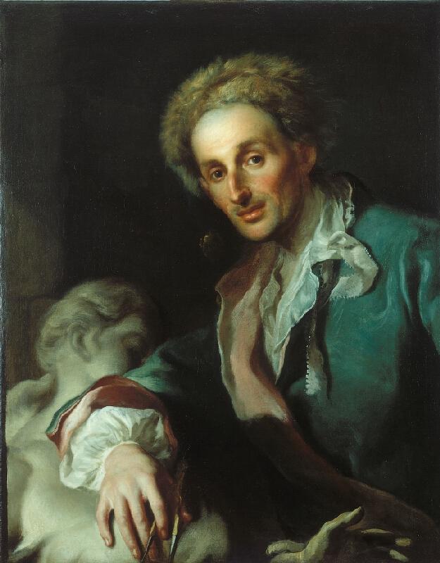 Franz Anton Palko - Portrét sochaře Gottfrieda Fritsche