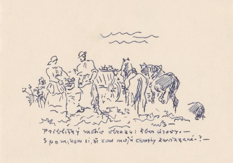 Martin Benka - Štúdia na motív zberu úrody