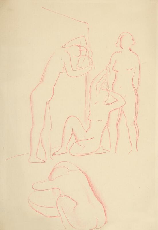 Mikuláš Galanda - Štyri ženy pri rannej toalete