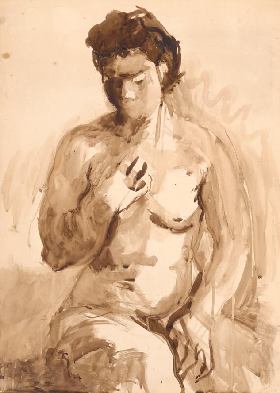 Jaroslav Kubička - Sediaci ženský akt