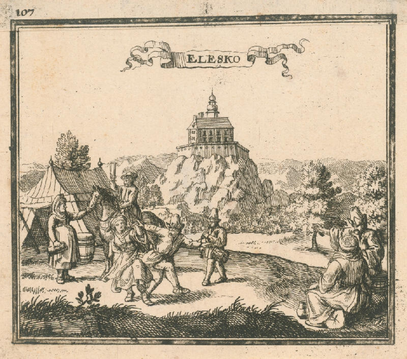 Justus van den Nypoort - Hrad Ostrý Kameň
