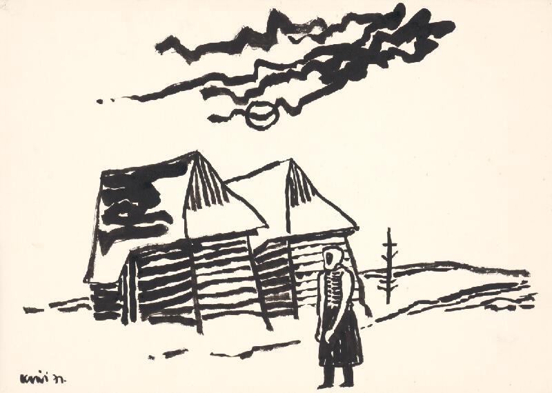 Fero Kráľ - Kresba z Oravy XV.