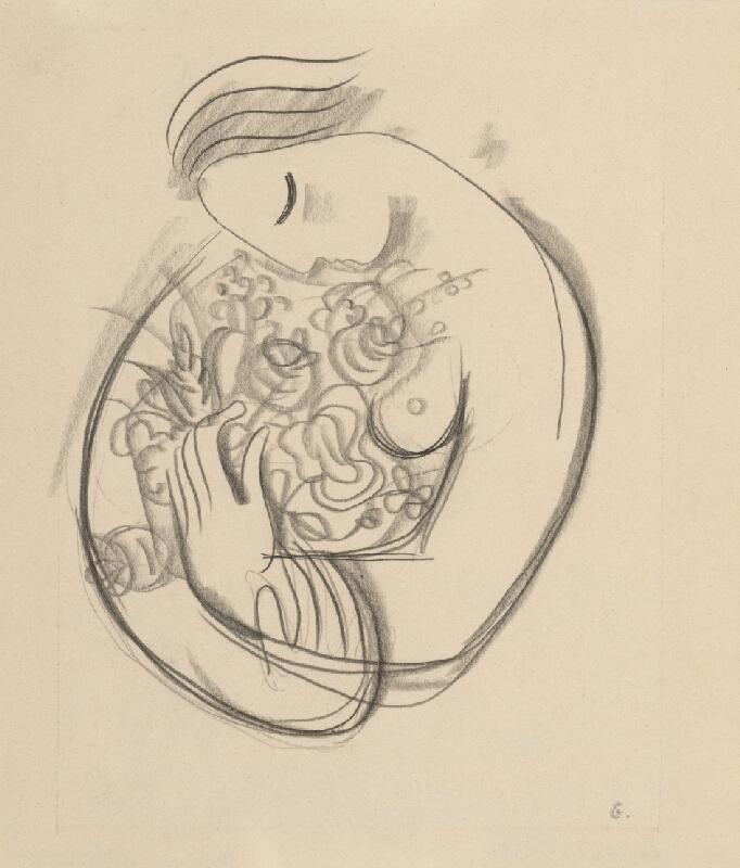 Mikuláš Galanda - Dievča s kvetmi v náručí