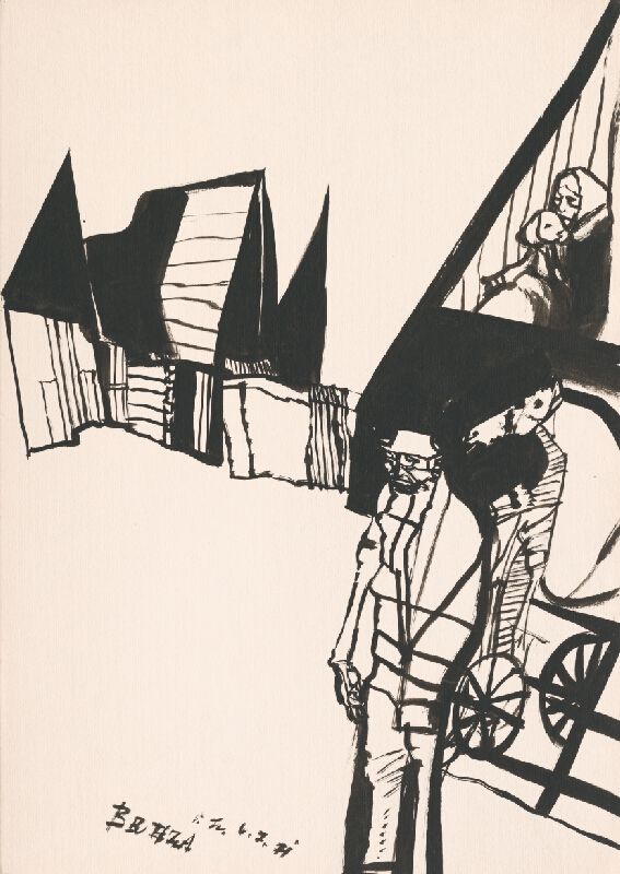 Vincent Hložník - Kresba z Oravy XXXI.