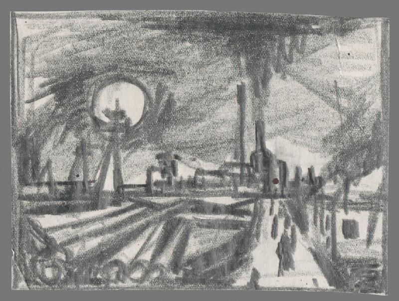 Viliam Chmel - Náčrt priemyselnej krajiny II.
