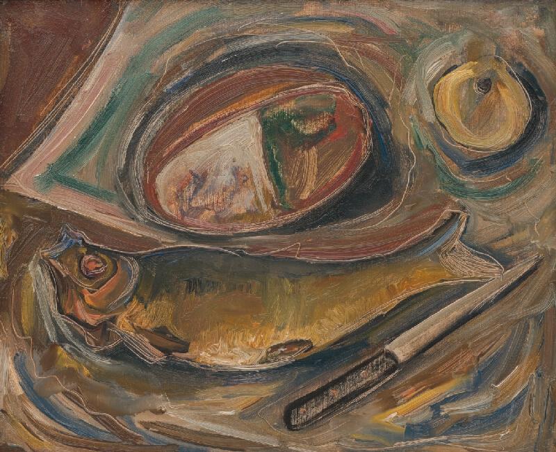 František Studený - Zátišie s rybou