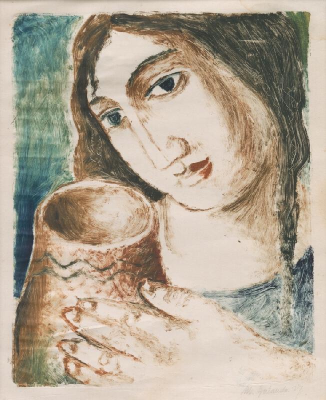 Mikuláš Galanda - Žena s krčahom