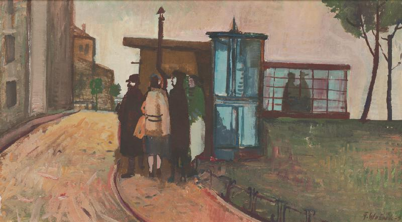 Ferdinand Hložník - Na autobusovej zastávke