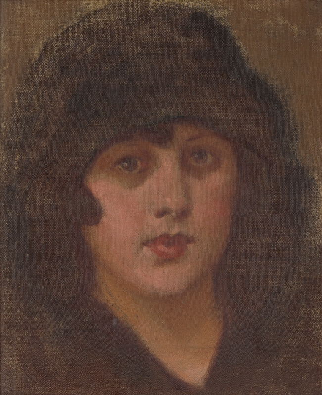 Milan Thomka Mitrovský - Dáma v čiernom klobúku