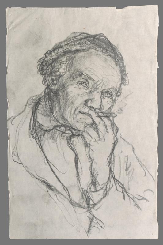 Ignác Kolčák - Štúdia fajčiaceho starca