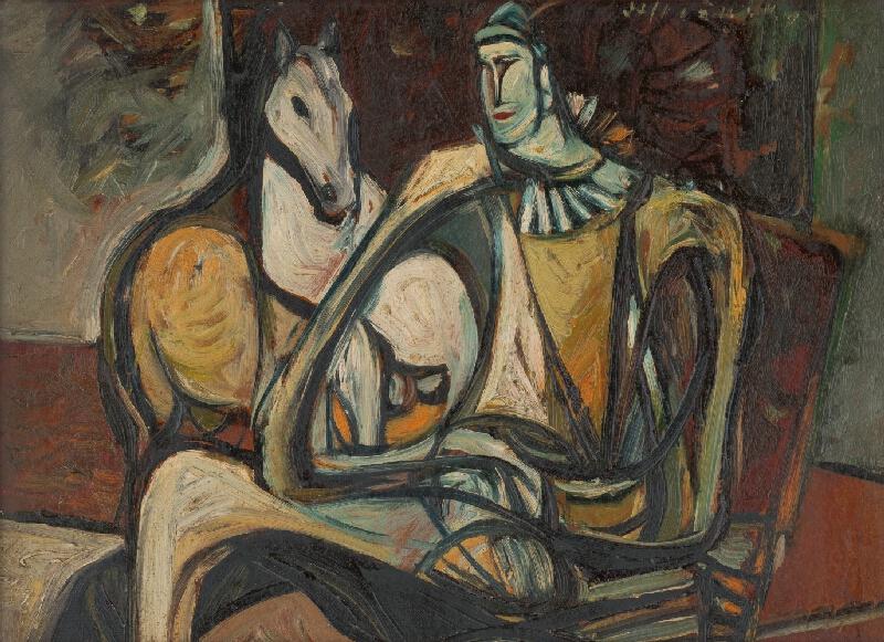 Vincent Hložník - Pierot s koňom