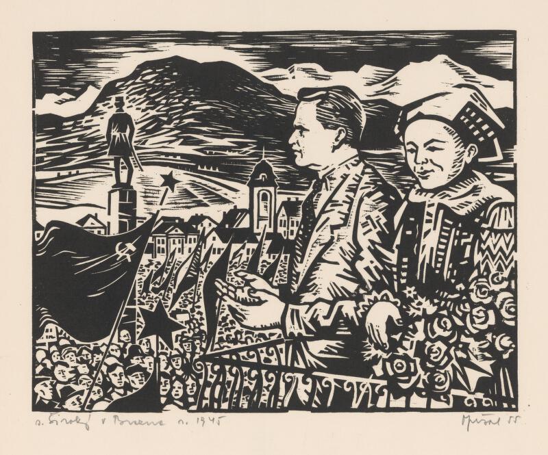 Oto Opršal - Široký v Brezne v r. 1945
