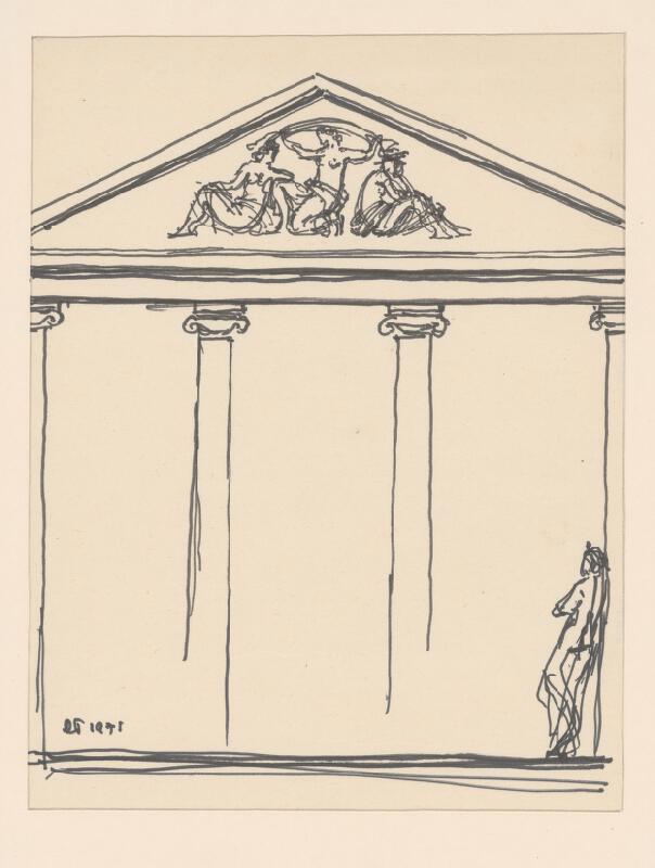 Rudolf Pribiš - I. náčrt riešenia tympanónu Malanta