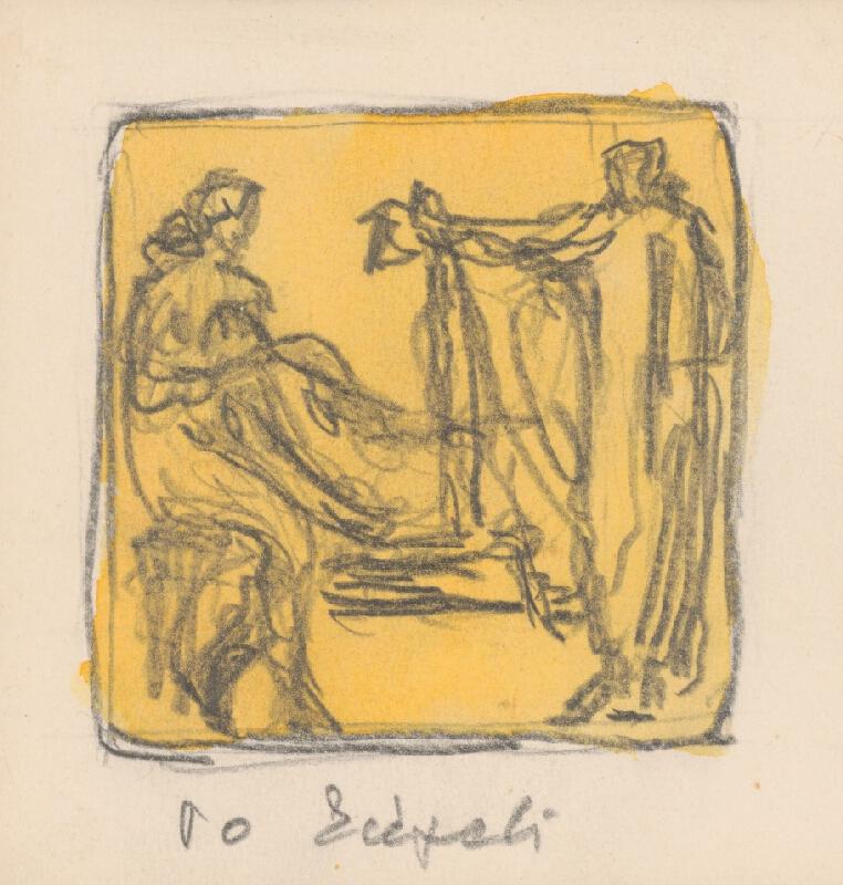Rudolf Pribiš - Naša zem - kompozícia k cyklu reliéfov Po kúpeli