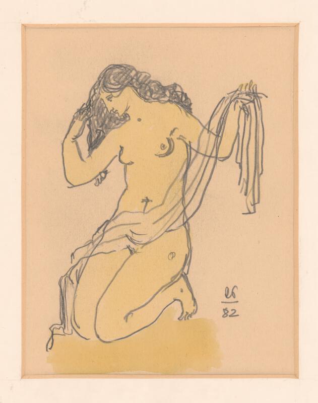 Rudolf Pribiš - Žena s drapériou