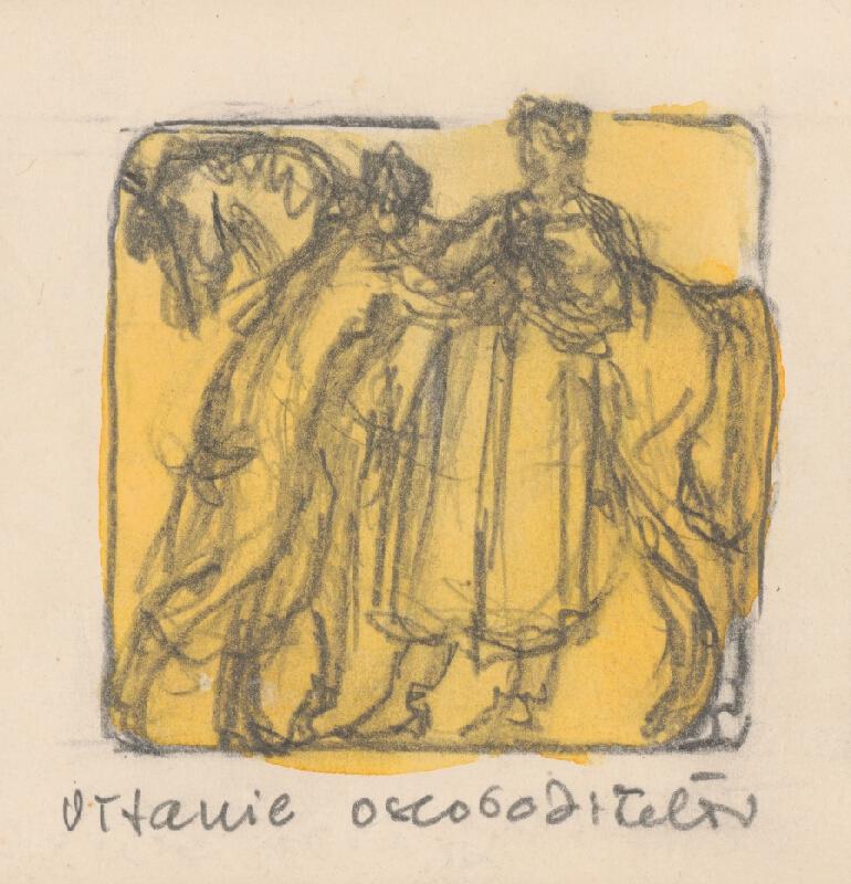 Rudolf Pribiš - Vítanie osloboditeľov - z cyklu Kytica vďaky