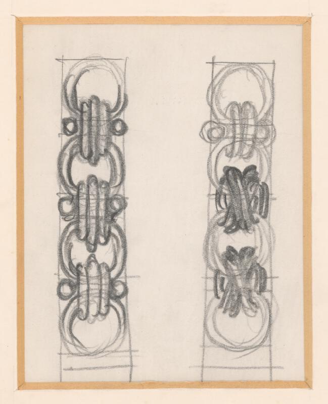 Rudolf Pribiš - Návrh detailu reťaze k insígniam VŠVU