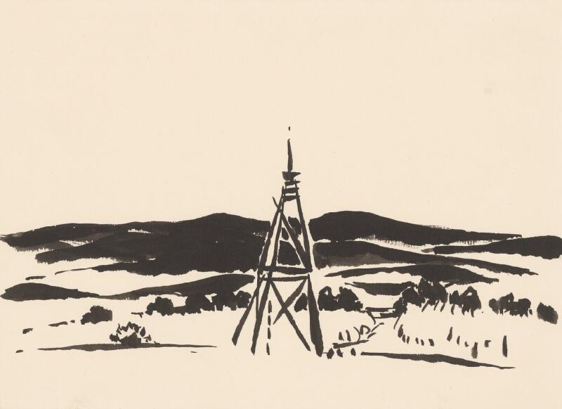 Viliam Chmel - Kresba VIII. Stredoslovenská krajina