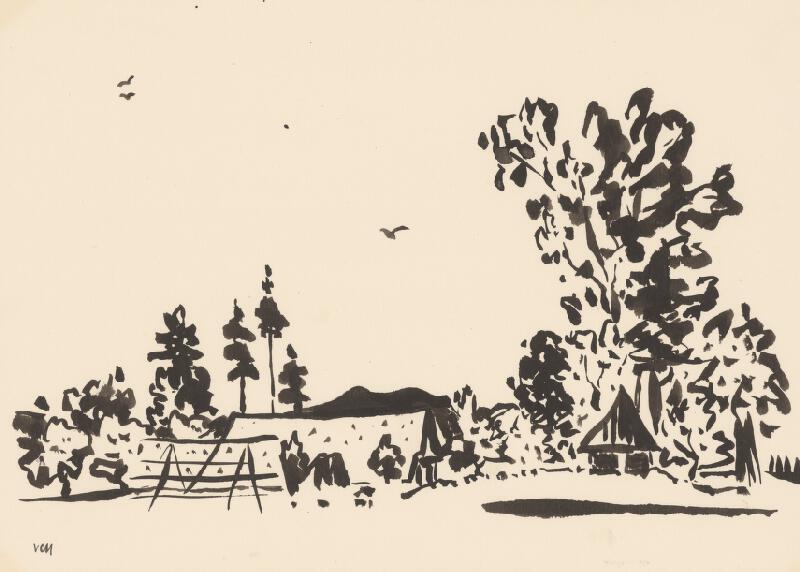 Viliam Chmel - Kresba X. Stredoslovenská krajina
