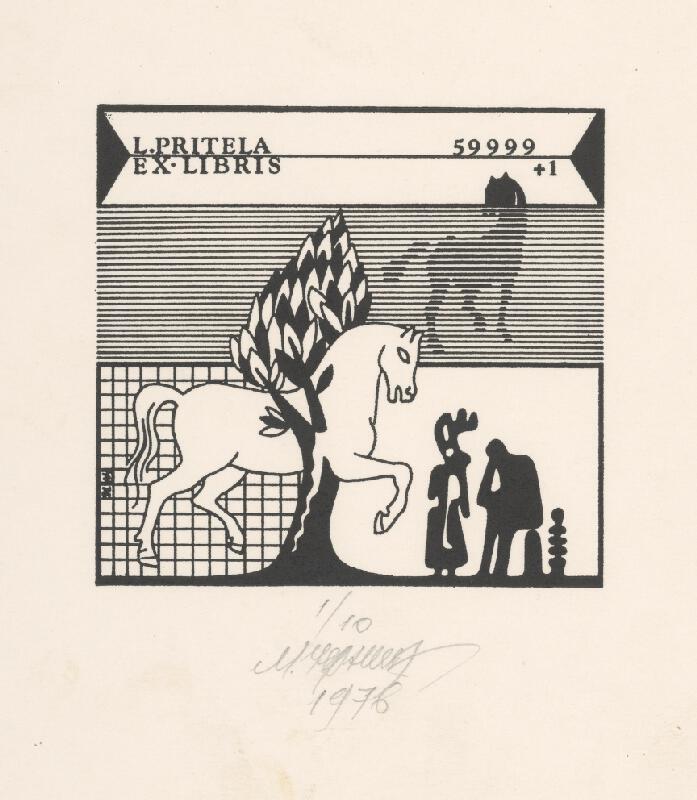 Mykola Černyš - Ex libris L. Pritela