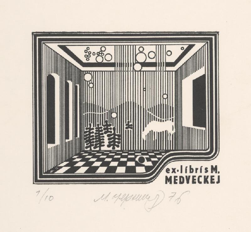 Mykola Černyš - Ex libris M. Medveckej