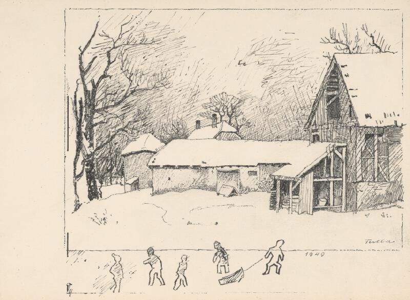 Ľudovít Fulla - Zimná krajina